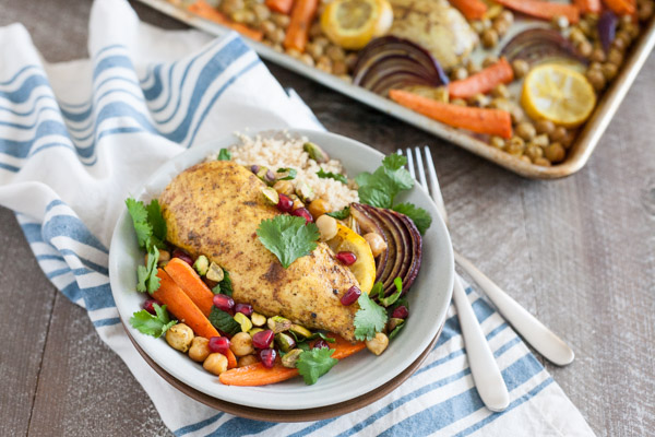 Sheet Pan Moroccan Spiced Chicken