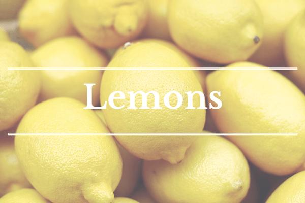 What's in Season: February - Lemons   BourbonandHoney.com