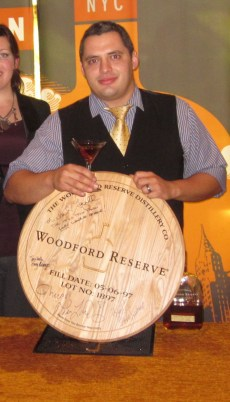 Woodford Reserve Bourbon and Esquire Magazine Crown Marcelo Nascimento Master of Manhattan Winner 2011