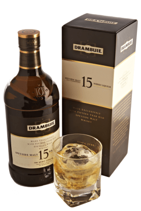 Drambuie 15 year old Scotch whisky packaging