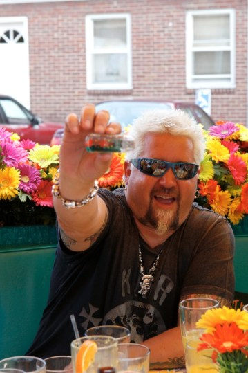 Guy Fieri enjoys dining and meeting customers at Lynn's Paradise Cafe the day after Kentucky Derby 139