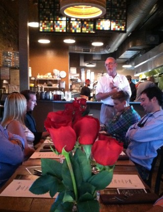 Four Roses Master Distiller Jim Rutledge shares his tasting notes of the new Four Roses 2012 Limited Edition Small Batch at a Bourbon Dinner at the Blind Pig in Louisville, Kentucky