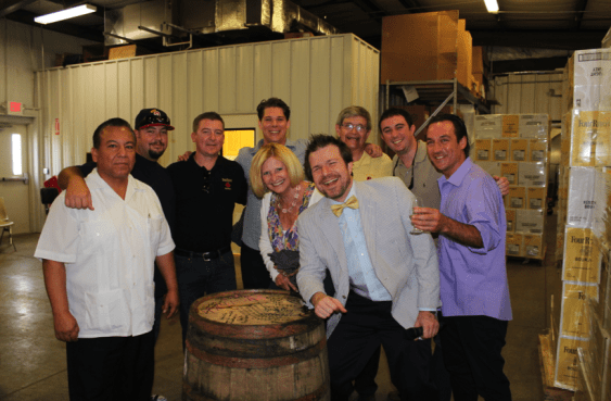 Friends from California , Seven Grand of LA and Four Roses Bourbon