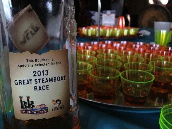 The special limited edition Four Roses Single Barrel 2013 Great Steamboat Race Belle of Louisville Bourbon