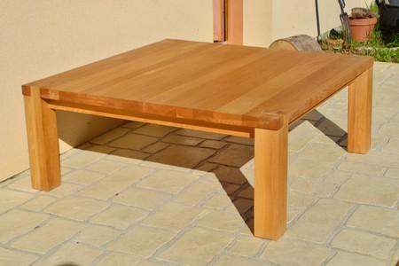 table basse carre en bois massif bourges