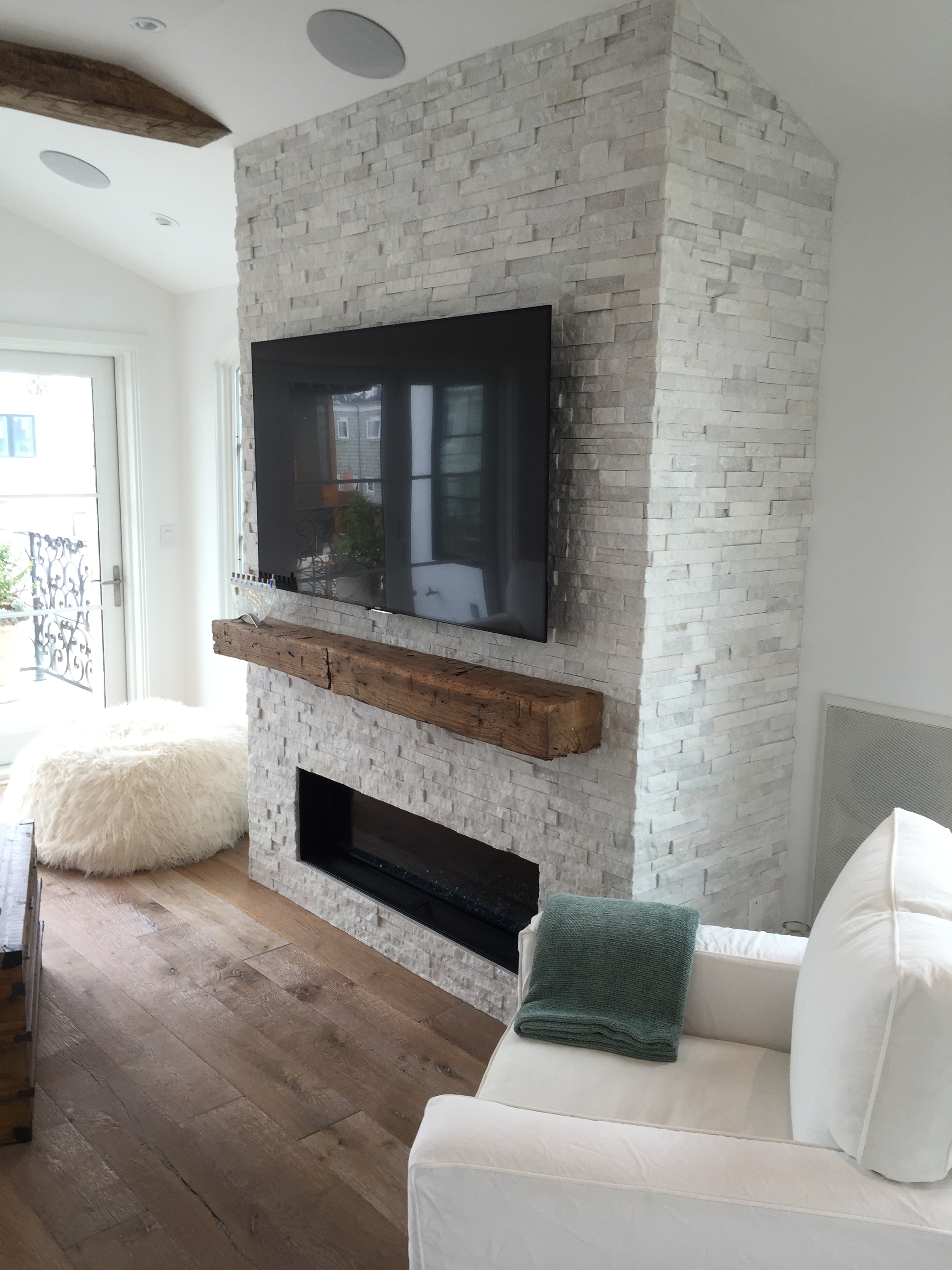 Arctic White Stacked Stone Panels  Bourget Bros