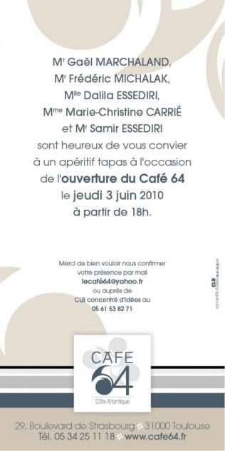 Carton d'invitation - Verso