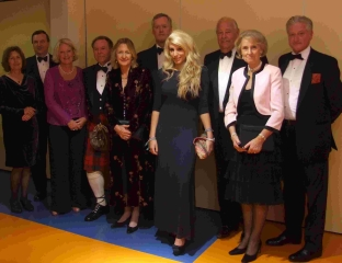 The president of the Society of Dorset Men Sir Anthony Jolliffe (third from right) with his principle guests before the County Dinner at Sherborne School