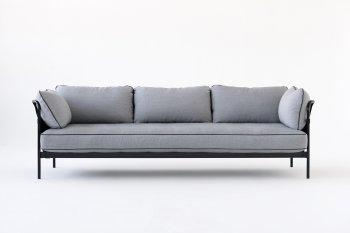 axis sofa art van burbank charcoal grey waffle suede sectional ronan erwan bouroullec design can hay