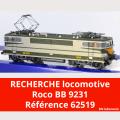 Recherche locomotive Roco BB 9231 Arzens ref 62519