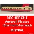 Recherche autorail Picasso Clermont Ferrand Mistral 2101S010 et 2101G006