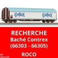 Recherche wagon bache Contrex SNCF - Roco 66303 66305