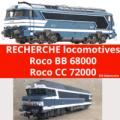 Recherche roco BB 68000 et roco CC 72000