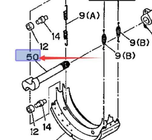 Rear Brake Camshaft For ISUZU FSR FTR FVR EVR 1988-1993