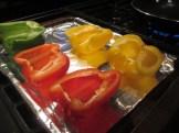 Bell peppers, cut in half