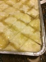 Walnut Baklava, covered in clarified butter