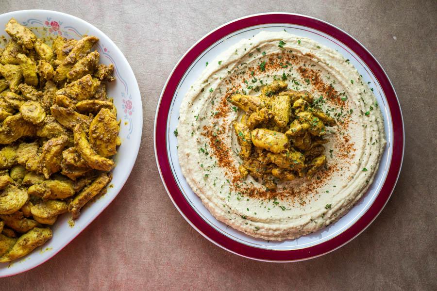 Plate of hummus