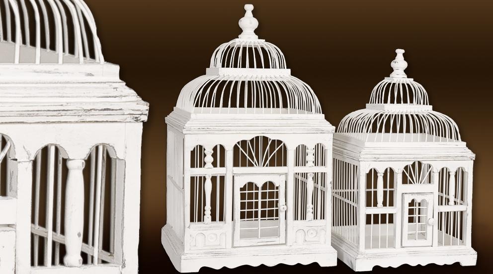 cage oiseau decorative en bois  visuel 1