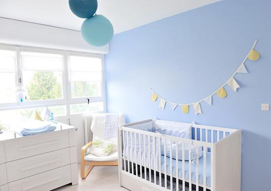 deco chambre bebe bleu ciel  visuel 2
