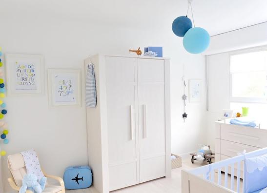 deco chambre bebe bleu ciel