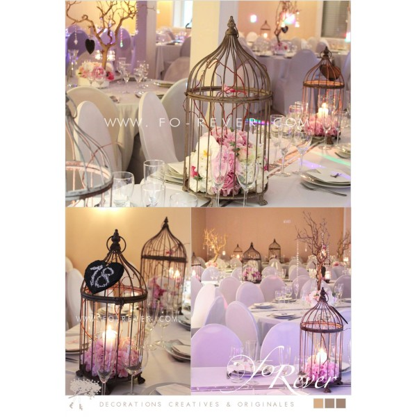 cage oiseau deco table