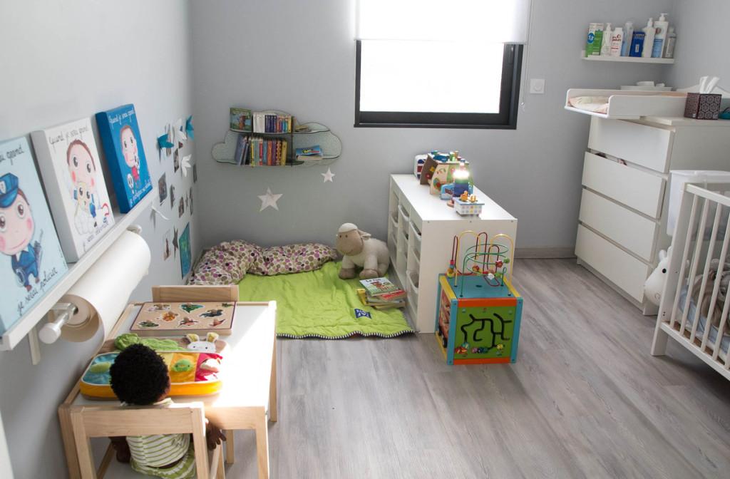 amenagement chambre bebe montessori  visuel 2