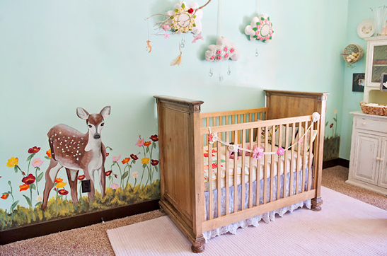 Deco Chambre Bebe Fille Stickers Chambre Fille Vert Baudet ...