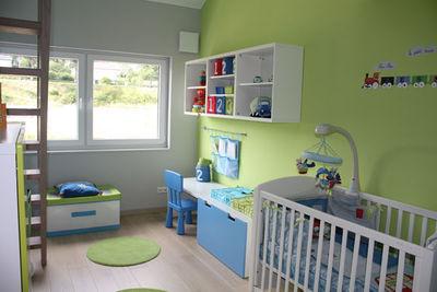 decoration chambre vert et bleu
