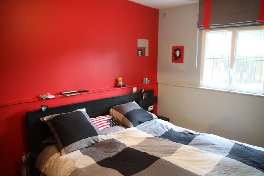 deco chambre rouge et noir