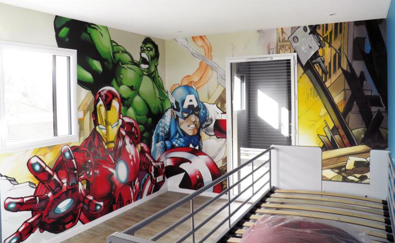 decoration chambre super heros