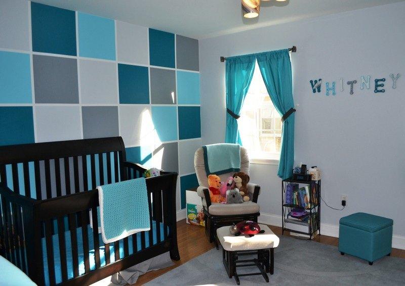deco chambre bebe bleu petrole  visuel 4