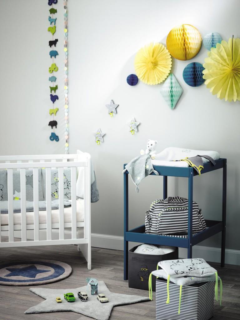 deco chambre bebe bleu petrole  visuel 8