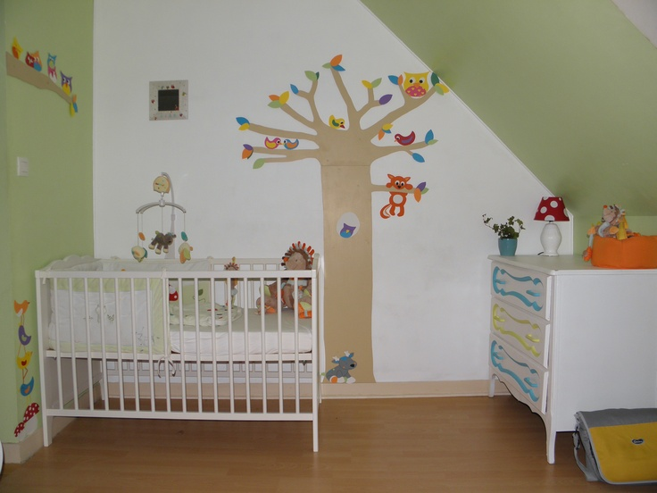 deco chambre bebe foret
