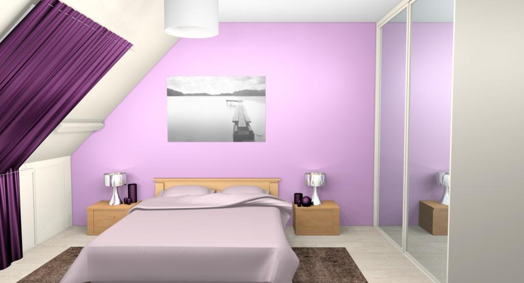 decoration chambre parme  visuel 3
