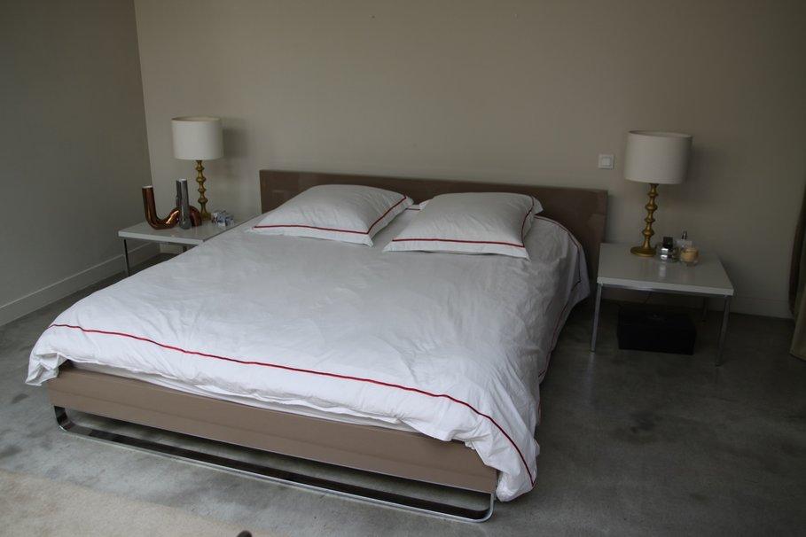 deco chambre gris et beige