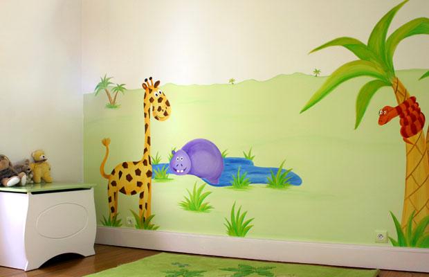 idee deco chambre bebe jungle