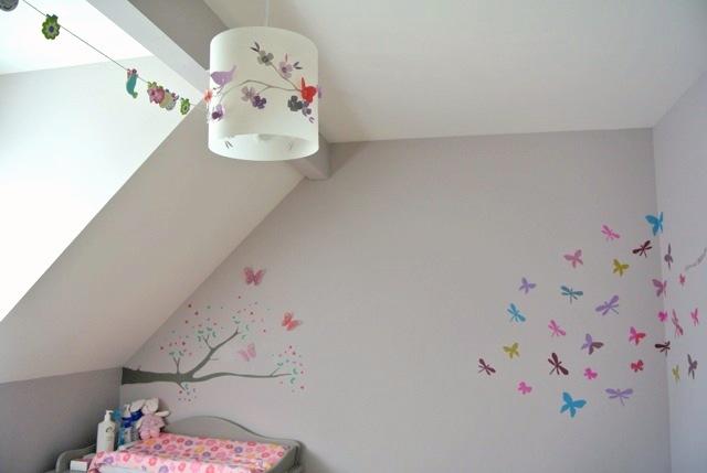 luminaire chambre bebe papillon