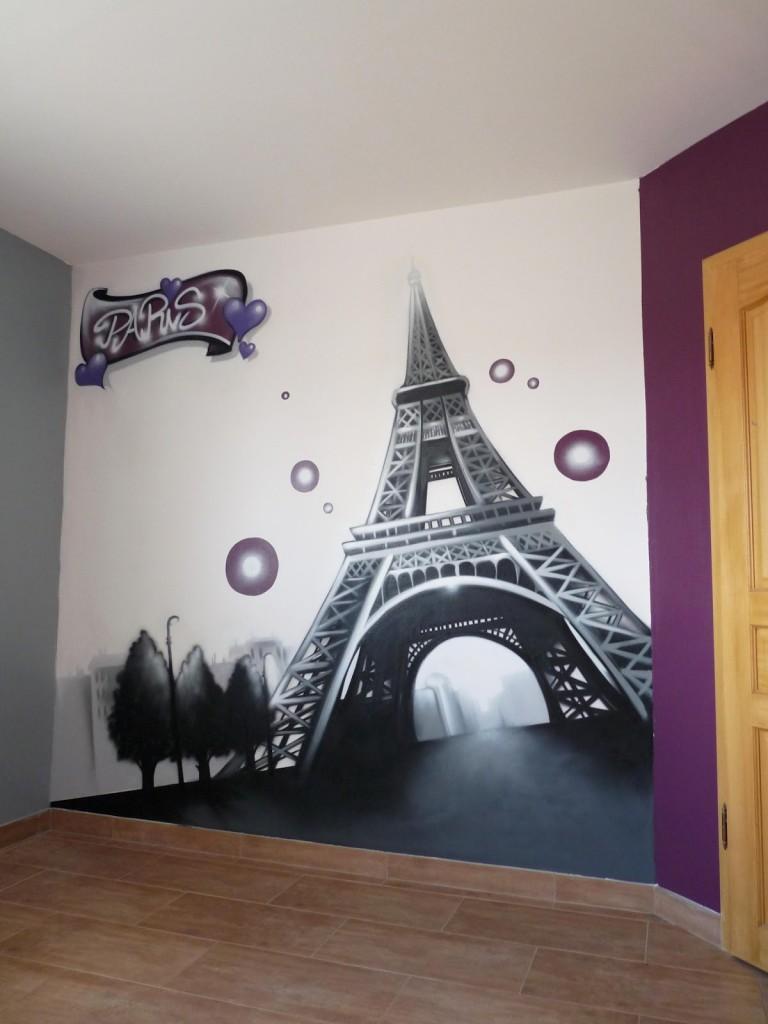 decoration chambre ado theme paris