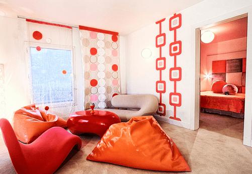 decoration chambre annee 60