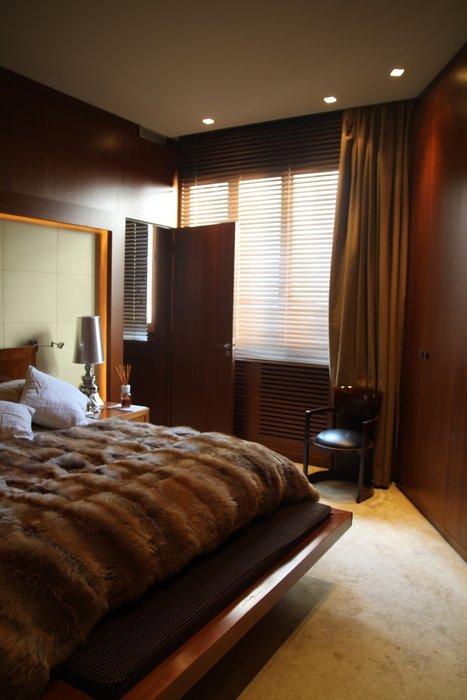 decoration chambre marron beige  visuel 4