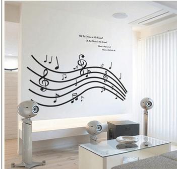 chambre decoration musique