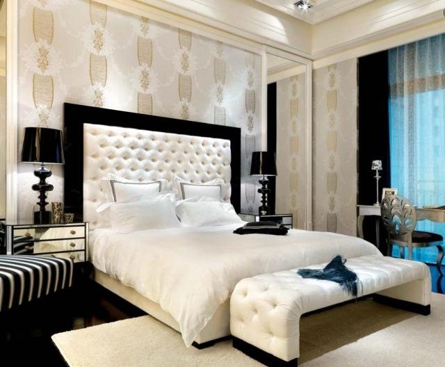 Decoration De Chambre A Coucher Avec Papier Peint Visuel 8