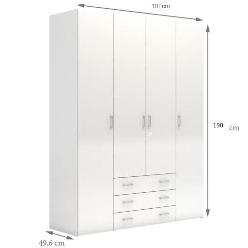 armoire blanche 4 portes
