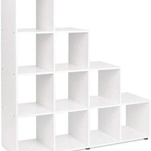 bibliotheque blanche moderne design 10 cube empilée