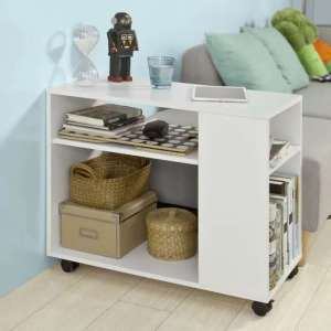 table basse d'appoint blanche