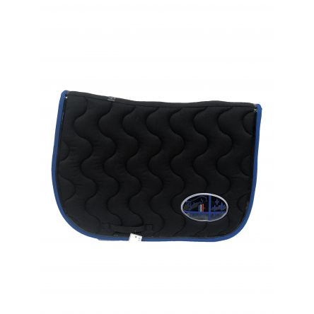 tapis de selle noir noir bleu roi jump in boutique equitation