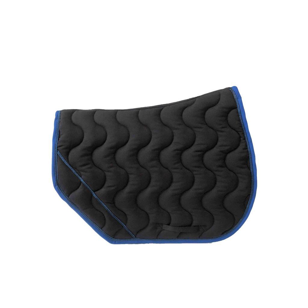 tapis sport noir bleu paillete bleu roi paddock boutique equitation
