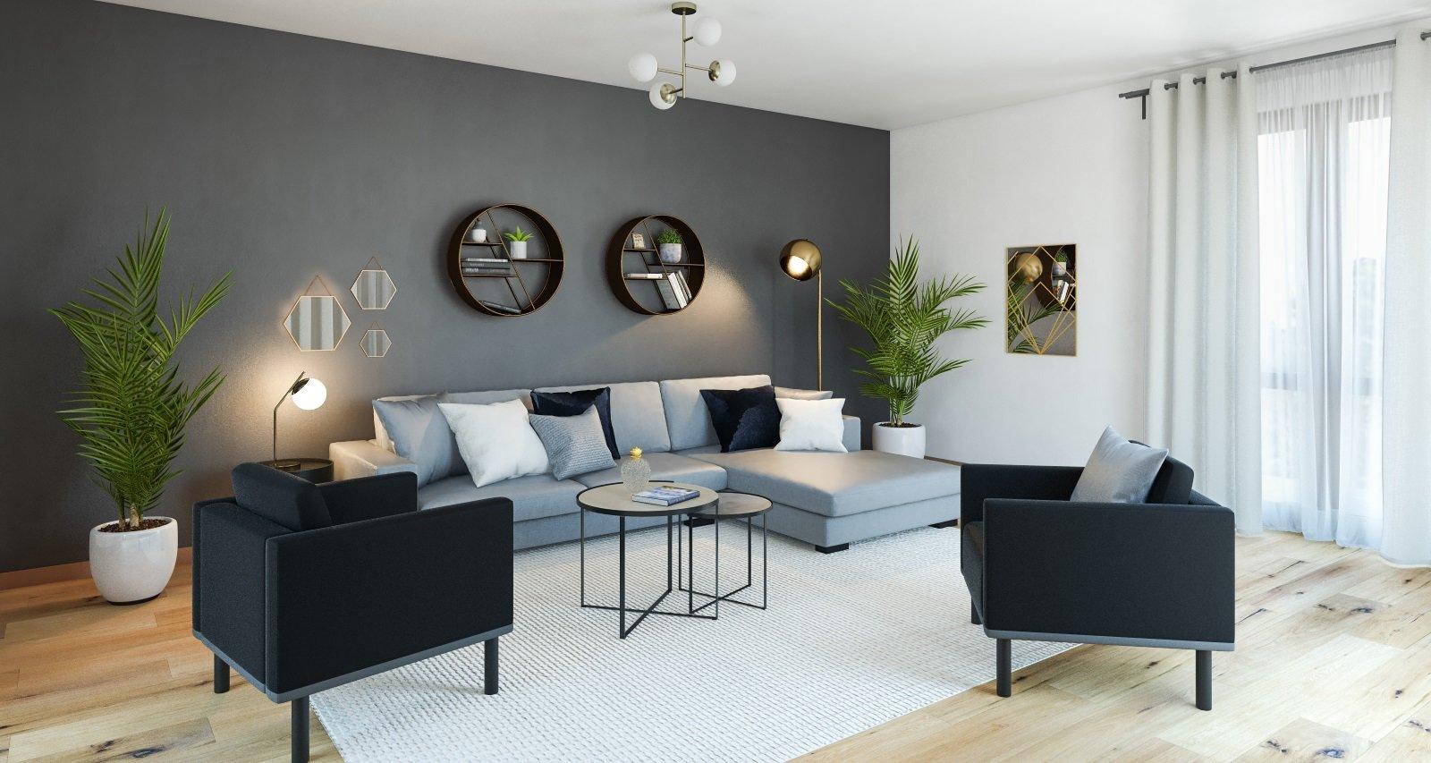 Salon scandinave gris blanc bois  Boutiquegaindeplacefr