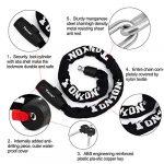 Chaine Antivol, Haute Quanlity 10mm Diamètre Cable Antivol Cadenas De Vélo Chain Lock Est le Plus Approprié Pour Les Vélo d'extérieur Motos, 98cm