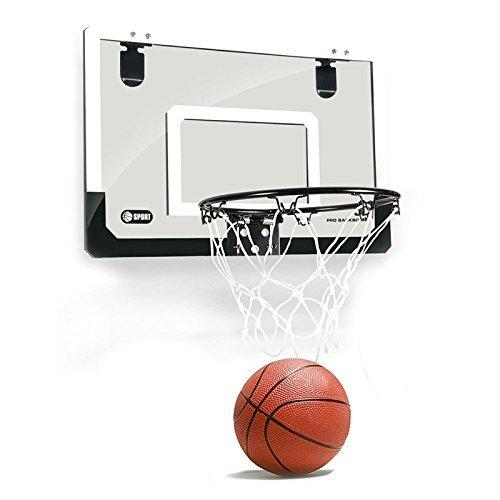 SODIAL Mini cerceau de basket-ball avec boule de 18 pouces x12 pouces panneau incassable